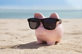 Piggy Bank With Black Sunglasses